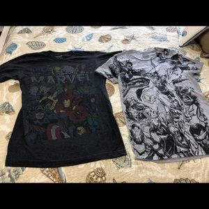 Marvel Comic t shirts two size men's small